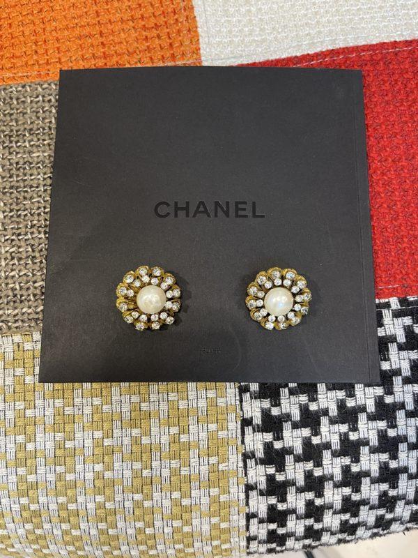Boucles d'oreilles Chanel vermeille
