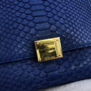 Céline trapèze python bleu