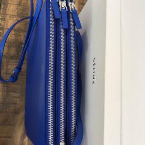 Céline sac trio cuir bleu